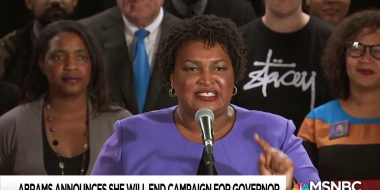 Stacey Abrams, beaten but not defeated, vows voting rights fight