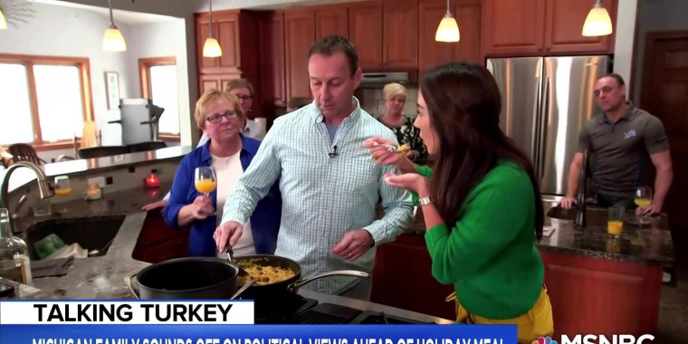 Family divided over politics talks coming together for Thanksgiving