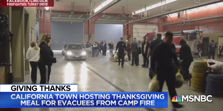California town hosting Thanksgiving meal for evacuees from Camp Fire
