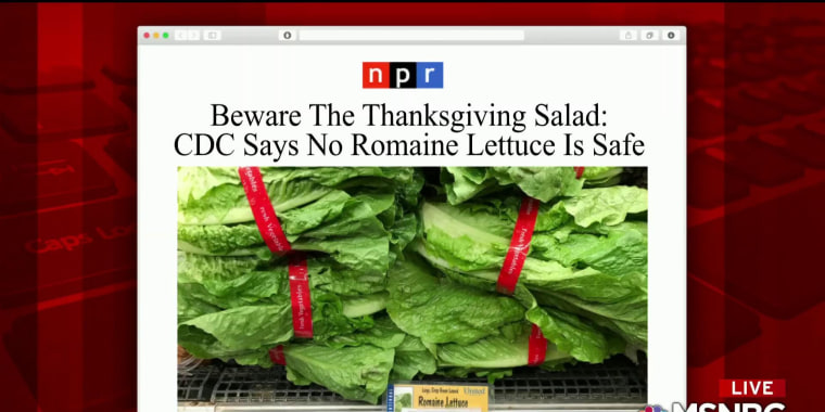 CDC says do not eat romaine due to E.coli outbreak