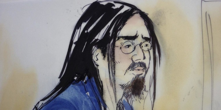 Image: Nguyen is shown in this artist's sketch as he makes an initial appearance in United States District Court in Santa Ana