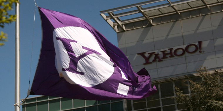 The Yahoo logo is shown at the company's headquarters in Sunnyvale, Calif. in this file photo taken April 16, 2013. Britain's spy agency GCHQ intercepted millions of people's webcam chats and stored still images of them, including sexually explicit ones, the Guardian newspaper reported on Thursday.