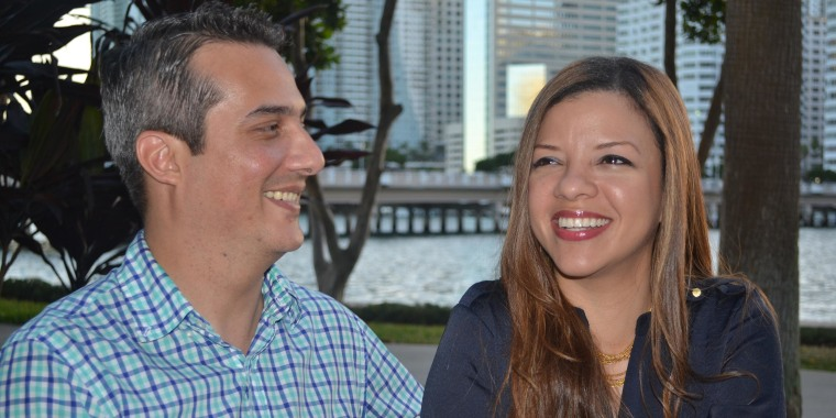 Dr. Luis Arias, originally from Venezuela and Dr. Margarita Perez, originally from the Dominican Republic, are engaged to be married, and are making Miami their home.  Only a little over half of Miami's Latino residents are now Cuban American.
