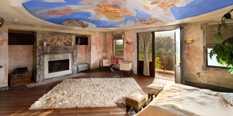 The master bedroom in this Los Angeles Italian villa shares an artistic connection to the Vatican.