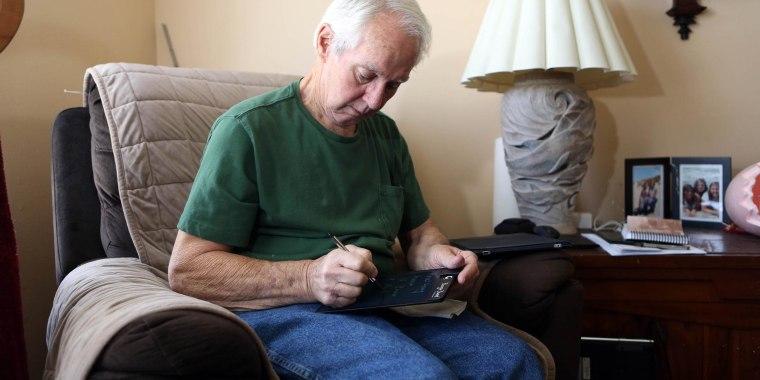 Image: Bob Hoaglan is a Vietnam veteran who has ALS