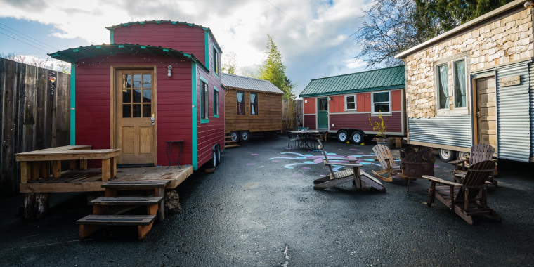tiny house hotel. image: caravan - the tiny house hotel in portland, ore., allows guests