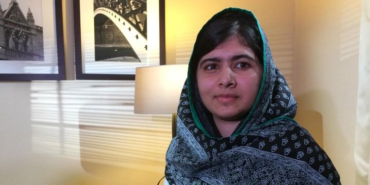 Image: Education activist Malala Yousafzai sat down with NBC News Chief Global Correspondent Bill Neely