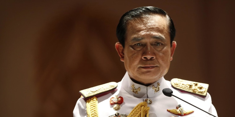 Image: Thai Army chief General Prayuth Chan-ocha looks on during a news conference at Army Headquarters in Bangkok