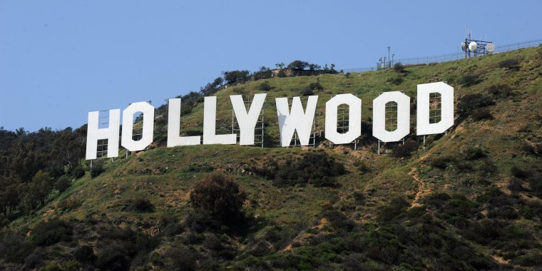Image: The iconic Hollywood sign in the hills above Hollywood, Calif