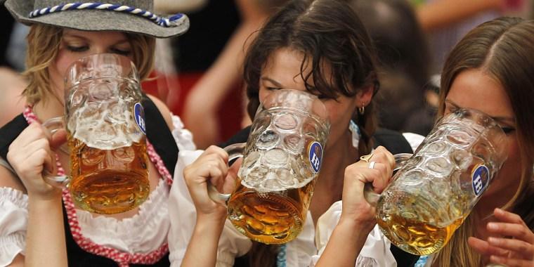 Image: Oktoberfest revelers on Sept. 17, 2011