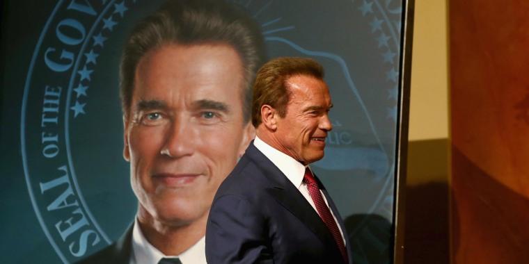 Image: Gov. Brown Unveils Offical Gubernatorial Portrait Of Former Governor Schwarzenegger