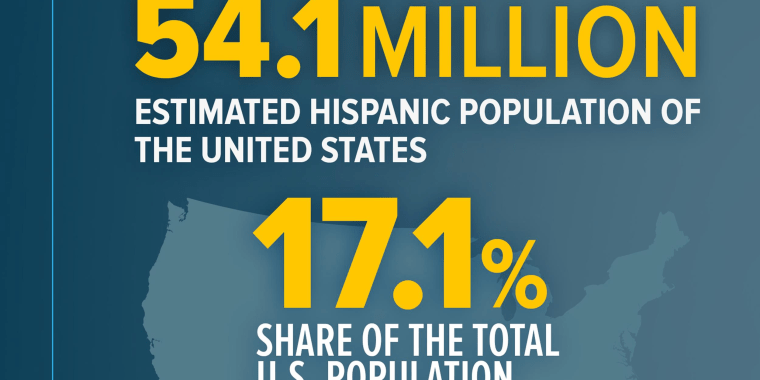 "Image: An infographic titled ""Hispanics by the numbers"""