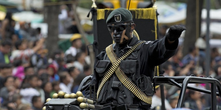 Mexican armed forces parade through Mexico City in commemoration of the country's 204th anniversary of independence.