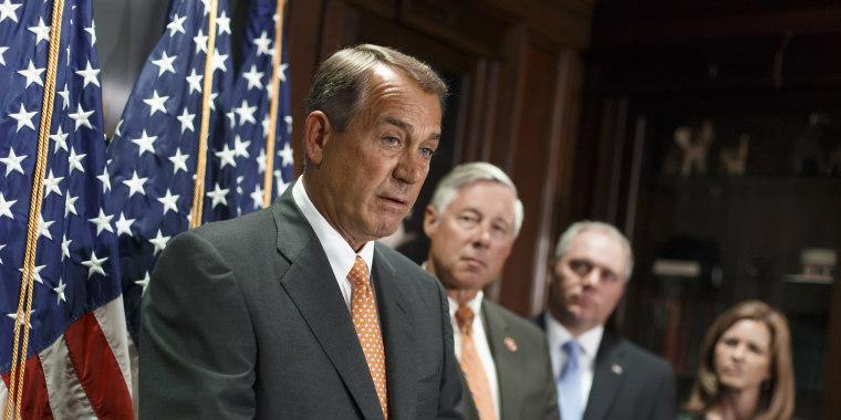 Image: John Boehner, Fred Upton, Steve Scalise,  Lynn Jenkins