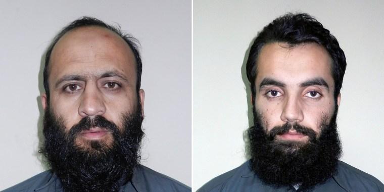 Image: Hafiz Rashid, left, and Anis Haqqan, right, senior leaders of the al-Qaida-linked Haqqani network, in Kabul, Afghanistan on Oct. 15
