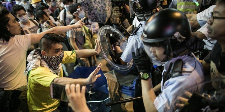 Protestors Continue To Resist As Police Attempt To Clear Protest Sites