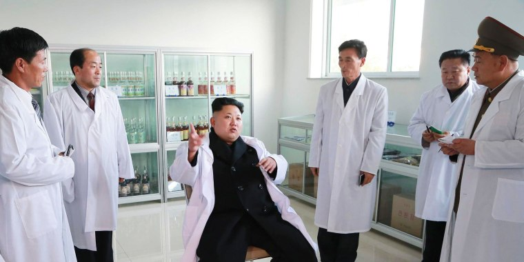 Image: North Korean leader Kim Jong Un visits the Korean People's Army's February 20 Factory
