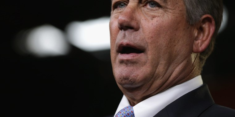 Image: John Boehner Holds Weekly Press Briefing At Capitol