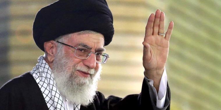 Image: Iranian supreme leader speaks during a ceremony in Tehran