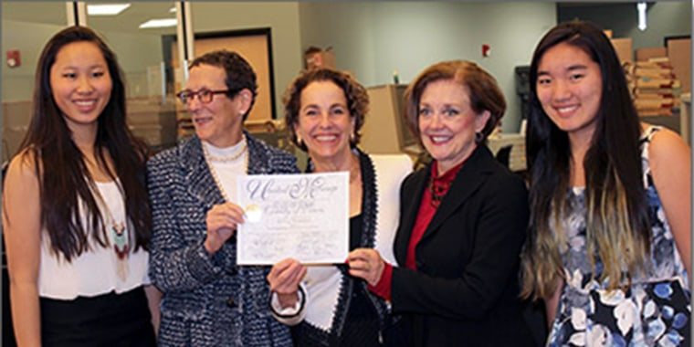 Image: Travis County Clerk issues marriage license to same sex couple