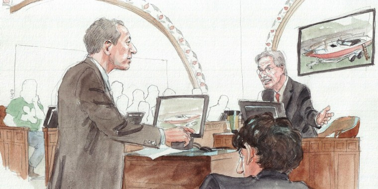 Image: David Henneberry on witness stand