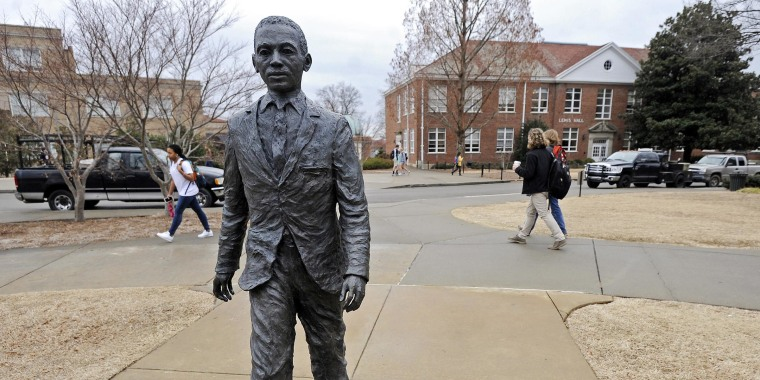 Graeme Phillip Harris of Alpharetta, Ga. has been indicted on federal civil rights charges connected to a noose being put on the statue of the student who integrated the university, the Justice Department said Friday, March 27.