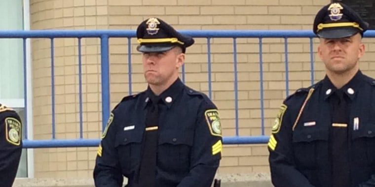 "The MBTA Police have announced that Officer Richard ""Dic' Donohue‎ is back on the job today."