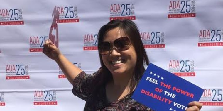 De Vera shows her support at a celebration for the 25th Anniversary of the ADA.