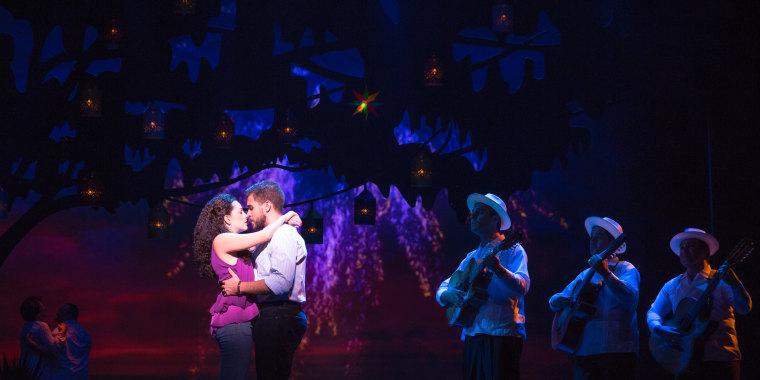 Ana Villafañe and  Josh Segarra as Gloria and Emilio Estefan in ON YOUR FEET!