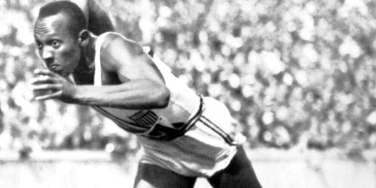 Berlin Olympic Games, Jesse Owens, the fastest runner in the world, 1936, Germany, Private collection.