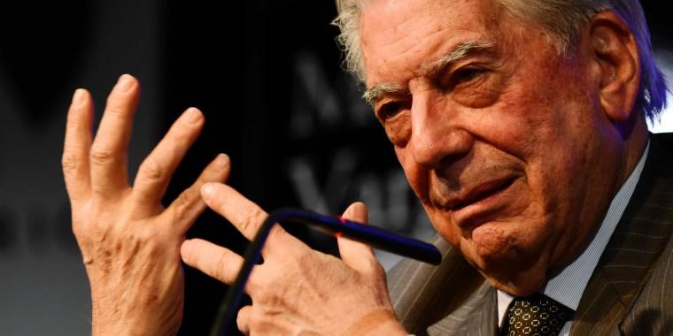 Nobel Prize winner Mario Vargas Llosa