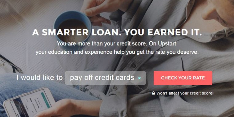 Upstart.com offers loans based on more than credit scores