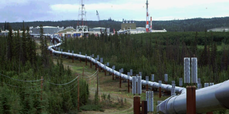 Image: The Trans-Alaska pipeline and pump station