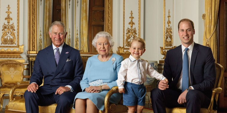Image:  The royals at Buckingham in London