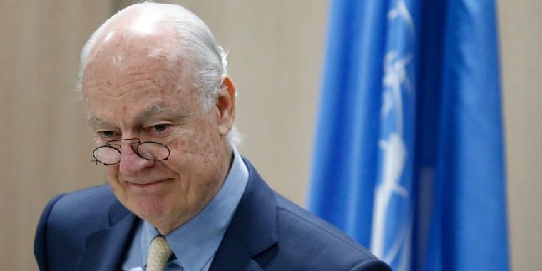 IMAGE: Staffan de Mistura, U.N. Envoy for Syria