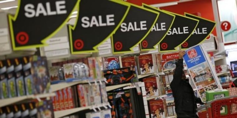 A shopper takes part in Black Friday sales at a Target store in Chicago