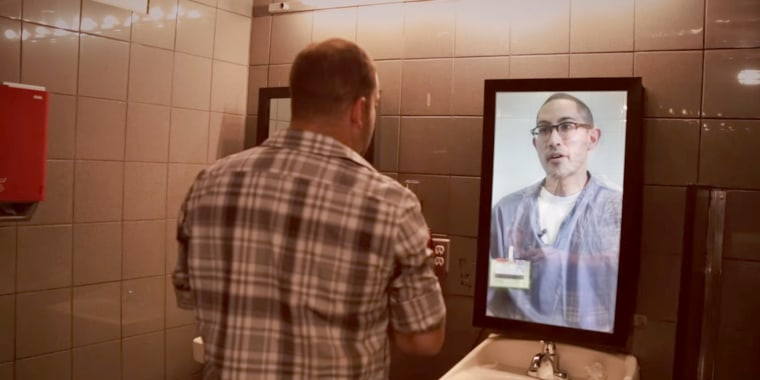 Kris Caudilla warns a patron at a Los Angeles bar not to make the same mistake that put him in prison by driving home drunk in a scene from a public service announcement by We Save Lives, a group created by Mothers Against Drunk Driving (MADD) founder Candace Lightner.