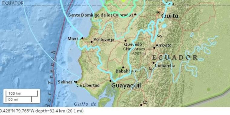 Western Ecuador Rattled by Magnitude 67 Earthquake USGS