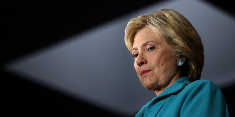 Image: Democratic Presidential Candidate Hillary Clinton Campaigns In Southern California