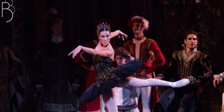 "Lia Cirio performing in ""Swan Lake"""