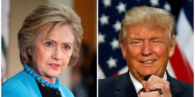 Image: A combination photo of U.S. Democratic presidential candidate Hillary Clinton and Republican presidential candidate Donald Trump
