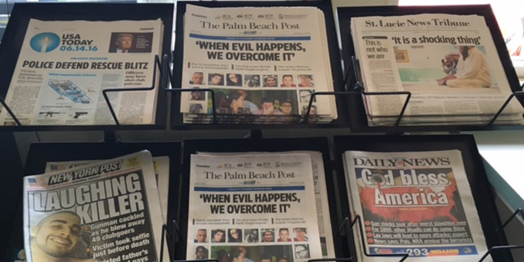 Newspapers on Display at a shop in the Main Street Village Pantry.