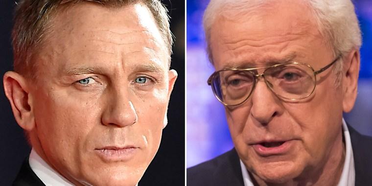 Daniel Craig and Michael Caine