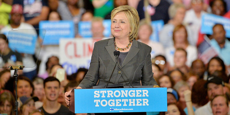 Presumptive Democratic presidential nominee Hillary Clinton speaks during a campaign event at the North Carolina State Fairgrounds on June 22, 2016 in Raleigh, North Carolina.