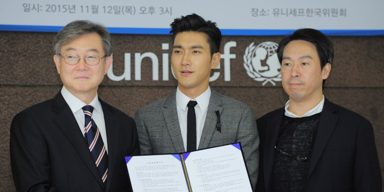 Choi Siwon of Super Junior is nominated as Special UNICEF Korean Committee representative.