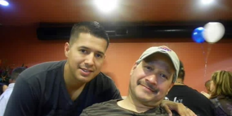 Patrick Zamarripa with his father, Rick Zamarripa.