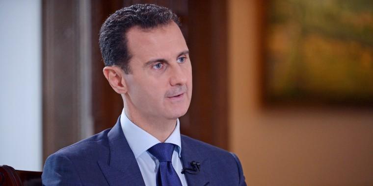 Syrian President Bashar Assad is interviewed by NBC News.
