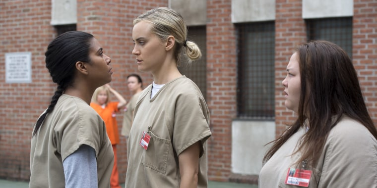 "Jolene Purdy, far right, in a promotional still from the fourth season of ""Orange Is the New Black"""
