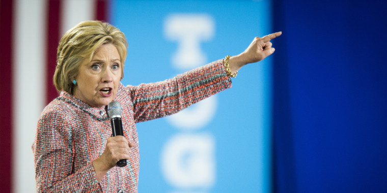 Image: Hillary Clinton speaks during a campaign event