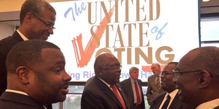 """Congressman James Clyburn (D-SC) was among a few hundred politicians and community leaders to attend """"The United States of Voting"""" town hall in Cleveland on July 18."""